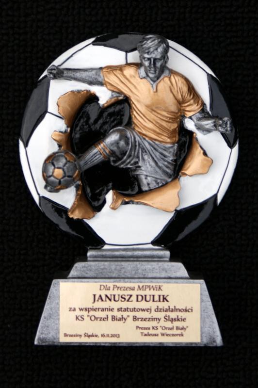 """Podziękowanie dla Prezesa Janusza Dulika za Wspieranie statutowej działalności Klubu Sportowego """"Orzeł Biały"""""""